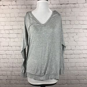 Wilfred Grey Long Sleeve Tee V-Neck Small